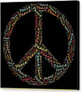 Peace Symbol - 0202 Canvas Print by Variance Collections