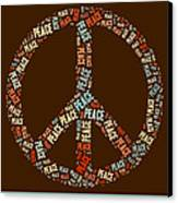 Peace Symbol Retro - 0103b  Canvas Print by Variance Collections