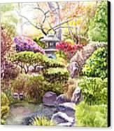 Peaceful Garden Canvas Print by Irina Sztukowski
