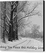 Peaceful Holiday Card Canvas Print by Carol Groenen