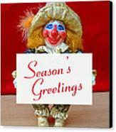 Peaches - Season's Greetings Canvas Print by David Wiles