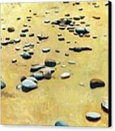 Pebbles On The Beach - Oil Canvas Print by Michelle Calkins