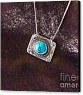 Pendant With Turquoise Canvas Print by Patricia  Tierney