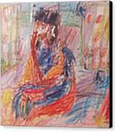 Penelope Pensive Canvas Print by Esther Newman-Cohen