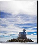 Penfield Reef Lighthouse Fairfield Connecticut Canvas Print by Stephanie McDowell