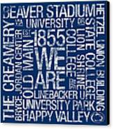 Penn State College Colors Subway Art Canvas Print by Replay Photos