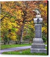 Pennsylvania At Gettysburg - 115th Pa Volunteer Infantry De Trobriand Avenue Autumn Canvas Print by Michael Mazaika