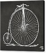 Penny-farthing 1867 High Wheeler Bicycle Patent - Gray Canvas Print by Nikki Marie Smith