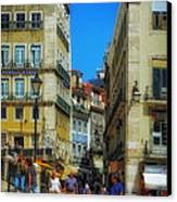 Pensao Geres - Lisbon 2 Canvas Print by Mary Machare