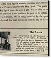 Pentecost By Glenn 1965 Canvas Print by Glenn Bautista