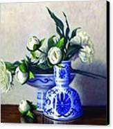 Peony Blossoms Canvas Print by Rick Hansen