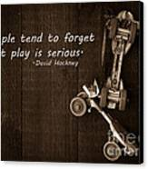 People Tend To Forget That Play Is Serious Canvas Print by Edward Fielding
