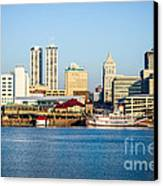 Peoria Skyline And Downtown City Buildings Canvas Print by Paul Velgos