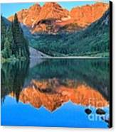 Perfect Reflections At The Bells Canvas Print by Adam Jewell