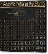 Periodic Table Of The Elements Canvas Print by Grace Pullen