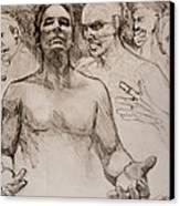 Persecution Sketch Canvas Print by Jani Freimann