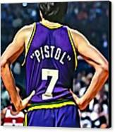 Pete Maravich Canvas Print by Florian Rodarte