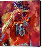 Peyton Manning Abstract 3 Canvas Print by David G Paul