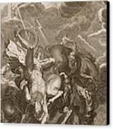 Phaeton Struck Down By Jupiters Canvas Print by Bernard Picart