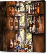 Pharmacist - Various Potions Canvas Print by Mike Savad