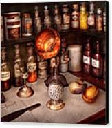 Pharmacy - Items From The Specialist Canvas Print by Mike Savad