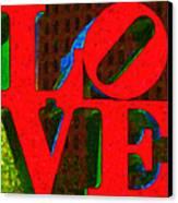 Philadelphia Love - Painterly V1 Canvas Print by Wingsdomain Art and Photography