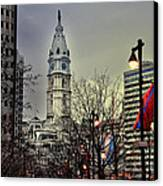 Philadelphia's Iconic City Hall Canvas Print by Bill Cannon