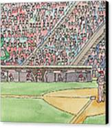 Phillies Game Canvas Print by Cee Heard