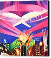Phish New Years In New York Middle Canvas Print by Joshua Morton