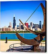 Picture Of Chicago Adler Planetarium Sundial Canvas Print by Paul Velgos