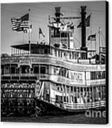 Picture Of Natchez Steamboat In New Orleans Canvas Print by Paul Velgos