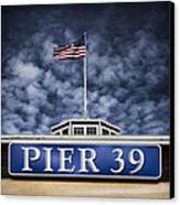 Pier 39 Canvas Print by Dave Bowman