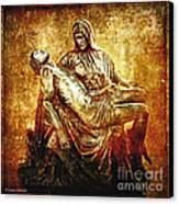 Pieta Via Dolorosa 13 Canvas Print by Lianne Schneider
