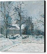 Piettes House At Montfoucault Canvas Print by Camille Pissarro