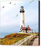 Pigeon Point Lighthouse Canvas Print by Artist and Photographer Laura Wrede