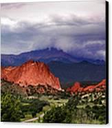 Pikes Peak Storm Canvas Print by Rod Seel