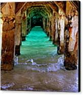 Pillars Of Time Canvas Print by Karen Wiles