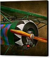 Pilot - Plane - German Ww1 Fighter - Fokker D Viii Canvas Print by Mike Savad