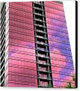 Pink Glass Buildings Can Be Pretty Canvas Print by Randall Weidner