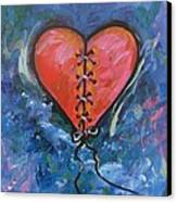 Pink Mended Broken Heart Canvas Print by Carol Suzanne Niebuhr