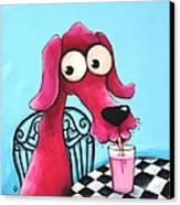 Pink Milk Canvas Print by Lucia Stewart