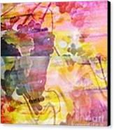Pink Vineyard Plumps Canvas Print by PainterArtist FIN
