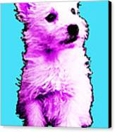 Pink Westie - West Highland Terrier Art By Sharon Cummings Canvas Print by Sharon Cummings