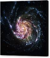 Pinwheel Galaxy Rainbow Canvas Print by Adam Romanowicz