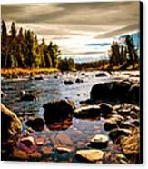 Piscataquis River Dover-foxcroft Maine Canvas Print by Bob Orsillo