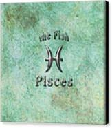 Pisces Feb 19 To March 20 Canvas Print by Fran Riley