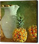 Pitcher With Pineapples Canvas Print by Diana Angstadt