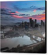 Pittsburgh January Thaw Canvas Print by Jennifer Grover