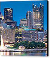 Pittsburgh New 2  Canvas Print by Emmanuel Panagiotakis