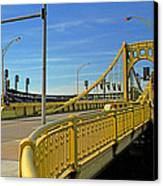Pittsburgh - Roberto Clemente Bridge Canvas Print by Frank Romeo